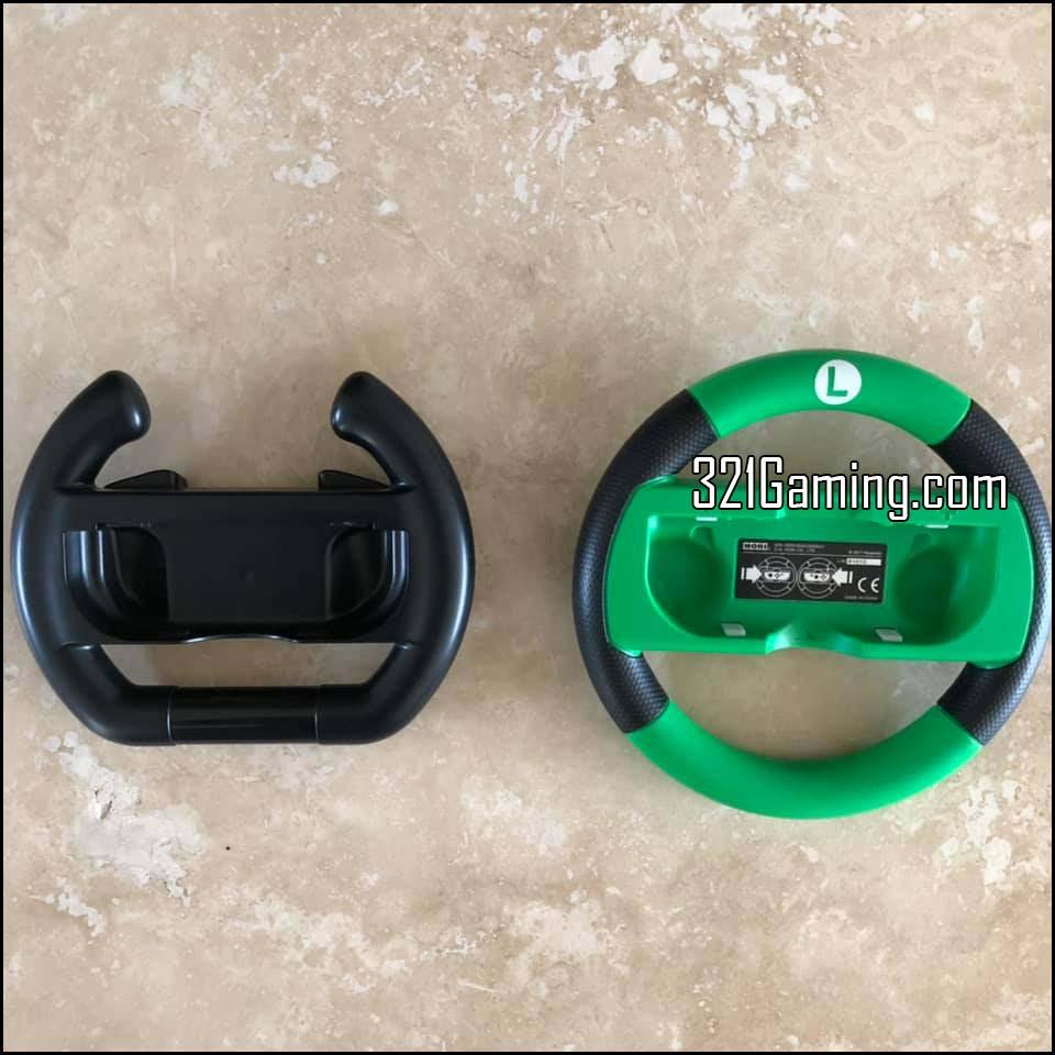 Comparison to Nintendo Switch Wheel (Luigi - Green)
