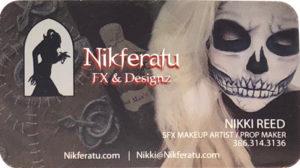 Business card make up artist