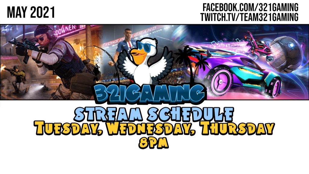 Stream Schedule May